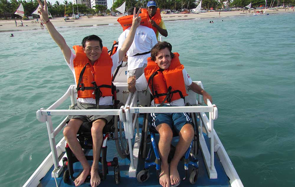 Projeto 'Praia Acessível, implantado em 2015. facilita o acesso de pessoas com deficiência aos equipamentos turísticos da orla de Maceió