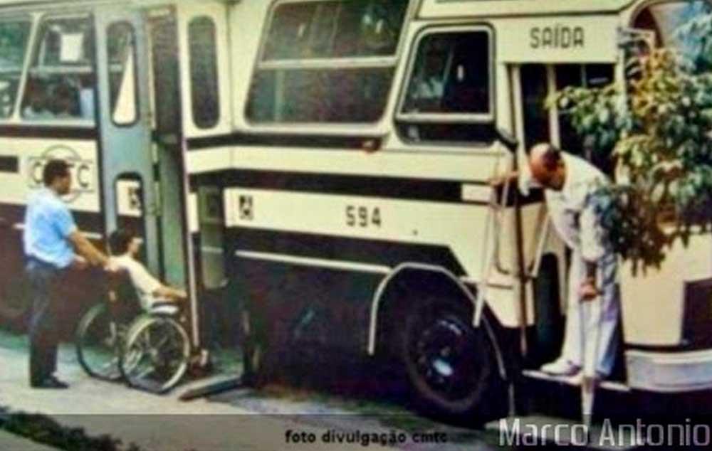 A história do primeiro ônibus acessível doBrasil