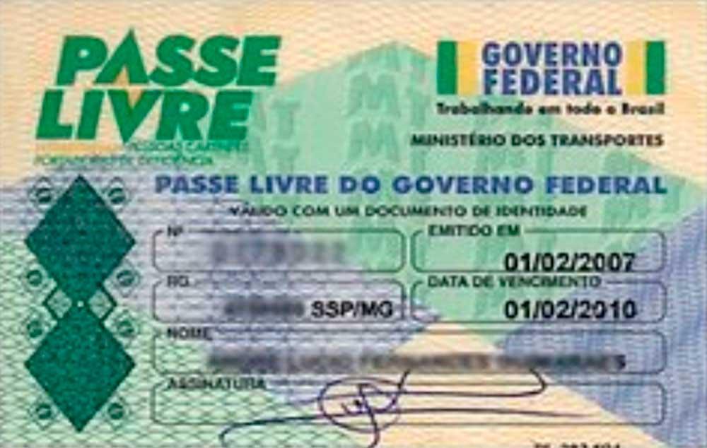 Documentos necessários para o Passe Livre