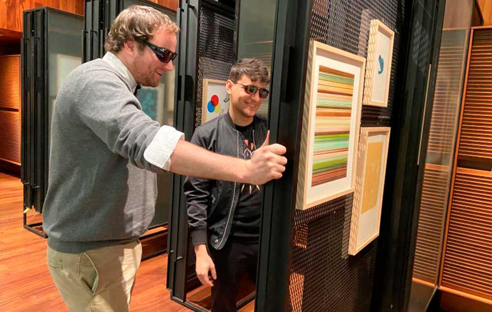 Colorblind Visitors Accessibility Program. MCA Denver's offers new glasses to see the full picture.