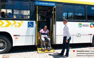 Ônibus totalmente acessíveis. Maceió alcança frota de transporte coletivo 100% acessível.