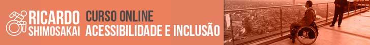 Banner comprido horizontal do Curso Online Acessibilidade e Inclusão